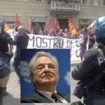 Festival economia: manifestazione de sindacati di base contro il premier Renzi