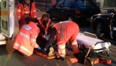 ambulanza 26enne fuoco
