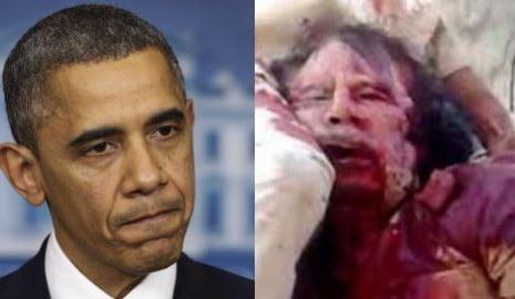 Barack Obama Gheddafi