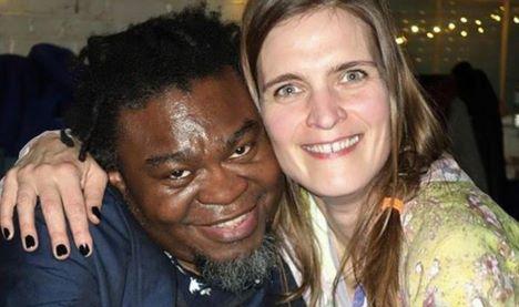 German born Katrin Lock hugs British-Nigerian Yinka Shonibare Katrin Lock/Instagram