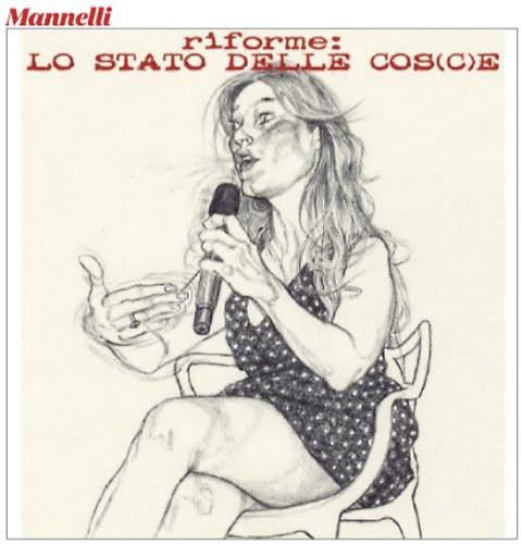 Maria Elena Boschi, vignetta sessista: ecco le foto che hanno ispirato Mannelli