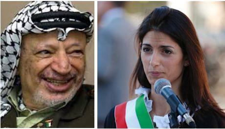 La Raggi intitola un parco al terrorista Arafat e offende gli ebrei