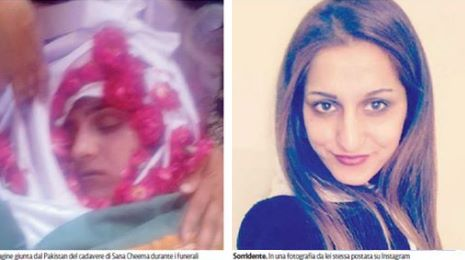 Sana: l'autopsia sul corpo della ragazza pakistana