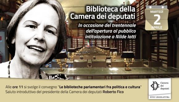 Biblioteca della camera dei deputati intitolata a nilde for Tv camera deputati