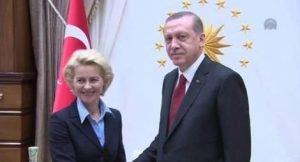 von der Leyen 3 miliardi di euro a Erdogan