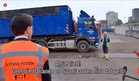 Siparietto dell'olandese Rutte: