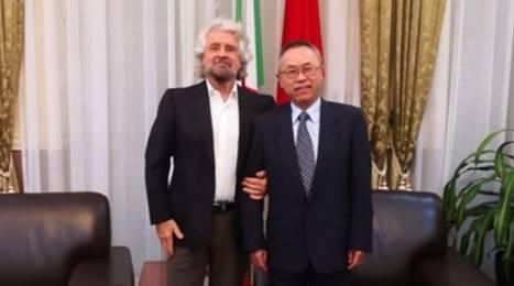 grillo in visita all'ambasciata cinese