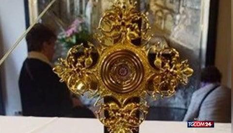 Spoleto, reliquia Giovanni Paolo II