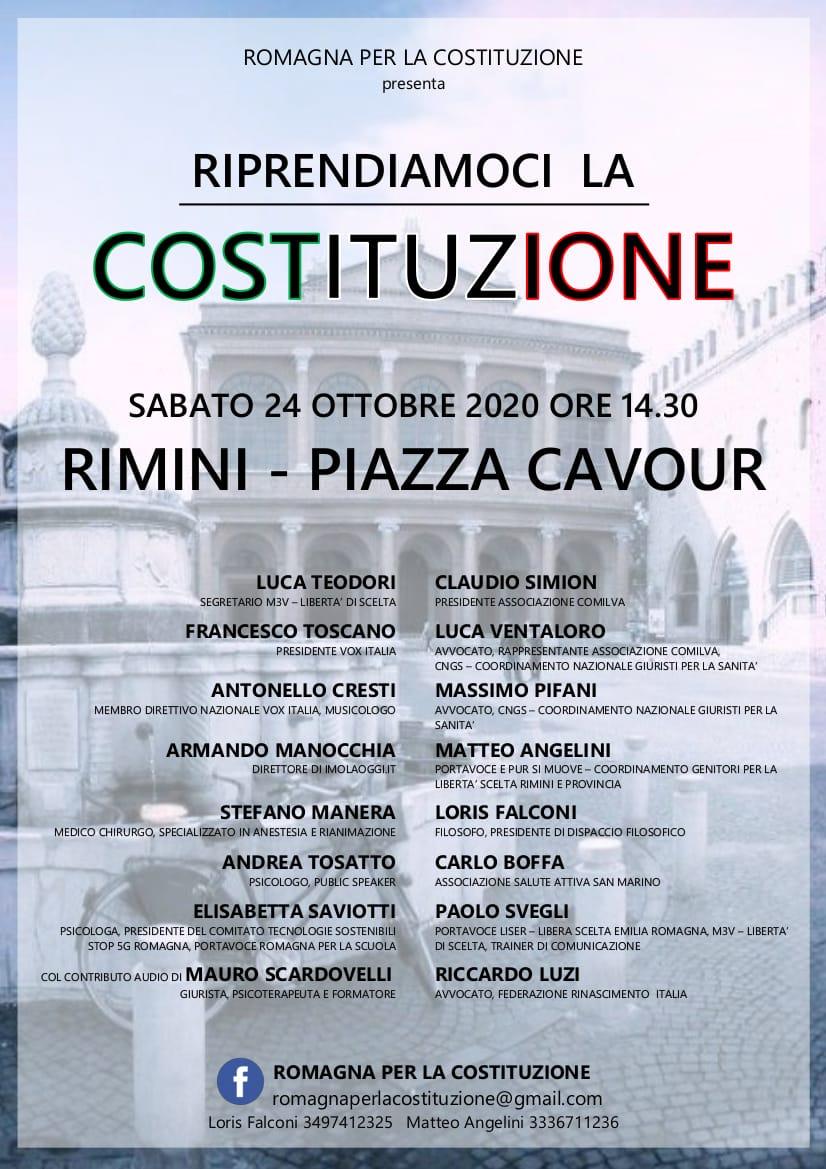 Rimini manifestazione 24 ottobre