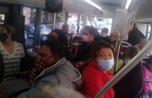 bus no mask