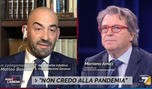 Matteo Bassetti e Mariano Amici