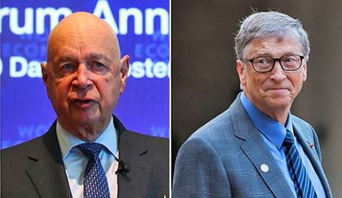 Klaus Schwab e Bill Gates