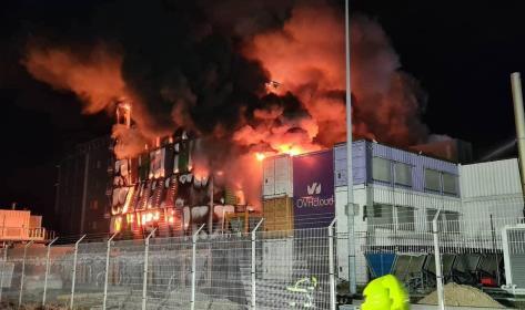 incendio a uno dei data center più grandi in Europa