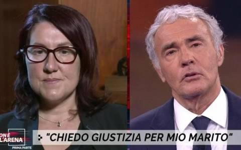 Caterina Arena moglie del militare morto in Sicilia