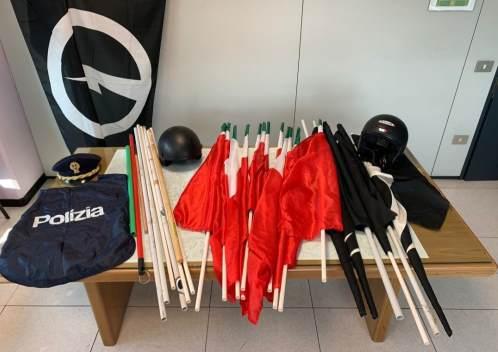 casapound bandiere italiane
