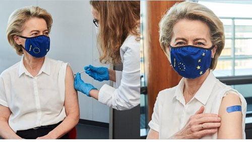 von der Leyen si vaccina