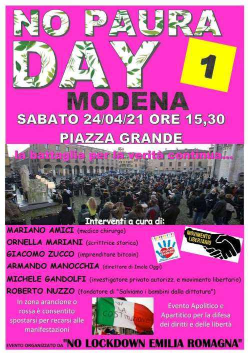 No Paura day 1 a Modena