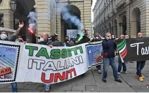 protesta dei tassisti