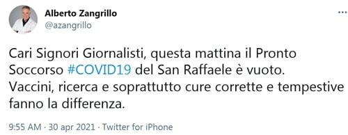tweet di Zangrillo