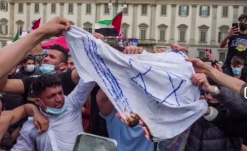 bandiere israeliane milano