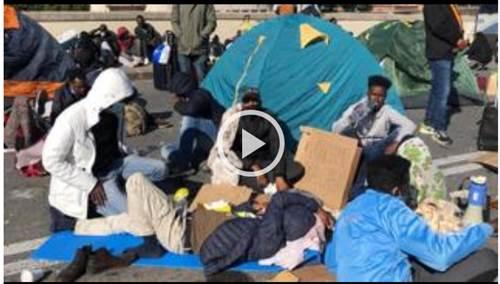 firenze protesta dei migranti