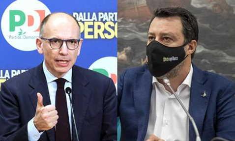 antifascista Letta e Salvini