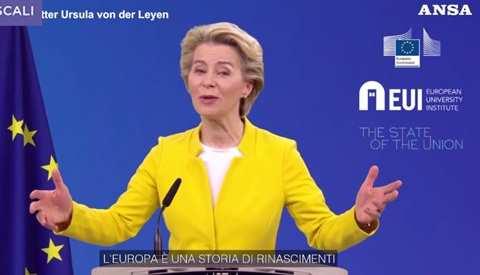 von der Leyen storia d'europa