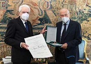 Mattarella e Piero Angela