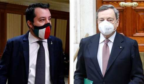 salvini draghi quirinale