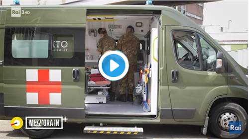 esercito alla ricerca di anziani da vaccinare
