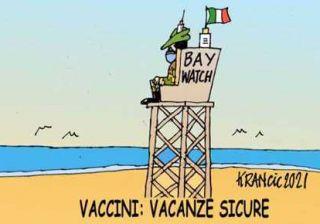 vaccini in spiaggia