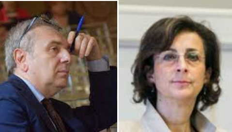 presidente Anm Santalucia e Marta Cartabia