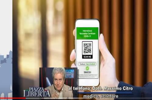 """Dr. Citro: """"green pass ricorda tessera che si doveva usare in quel ventennio"""""""
