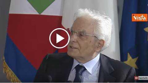 """Mattarella: """"Dotare la UE di difesa comune"""""""
