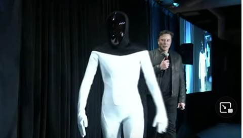 Elon Musk annuncia il robot umanoide