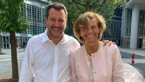 salvini e la presidente di federfarma