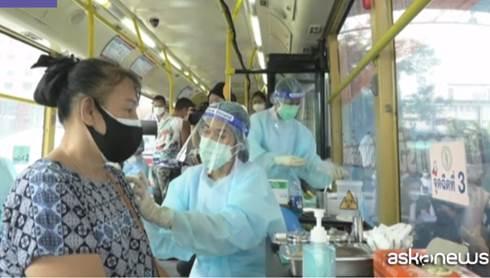 Thailandia vaccinazioni negli autobus