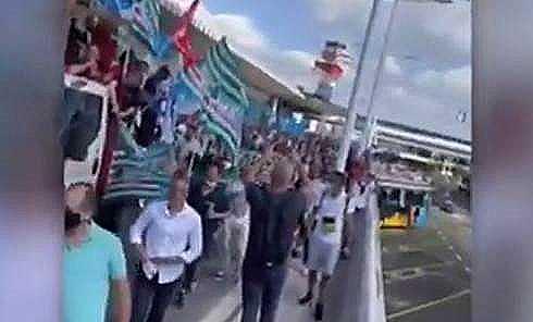 protesta dei lavoratori Alitalia