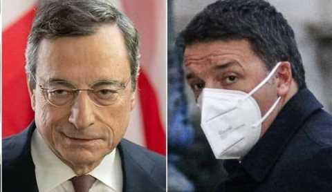 Renzi Draghi a Palazzo Chigi