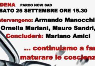 Modena: manifestazione il 25 settembre