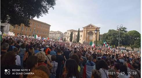 manifestazioni no green pass