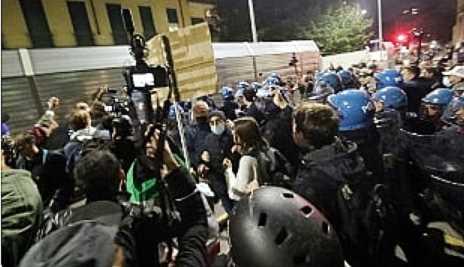 anarchici no green pass milano